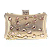 Evening bags, hot sale flower diamante design for women, OEM & ODM are welcome