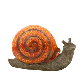 New Polyresin Glossy green Snail Statue Manufacturer