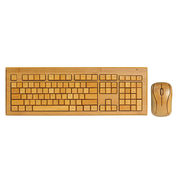 Full Bamboo Wireless Keyboard & Mouse Combo from China (mainland)