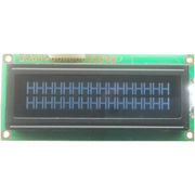Dot-matrix LCD module for security equipment, 16 x 2 characters, white back light