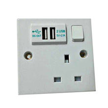 USB wall power switched socket from China (mainland)