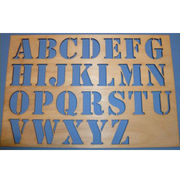 MDF alphabet stencil from China (mainland)