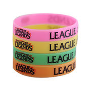 Silicone bracelets, different size available, silk screen print/debossed/embossed for custom from Iris Fashion Accessories Co.Ltd