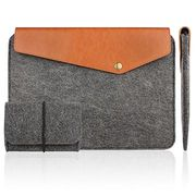 Felt & Leather Case Sleeve Pouch from China (mainland)