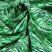 Taiwan Discharge Print Jersey Fabric Featuring Permanent Wicking Yarn