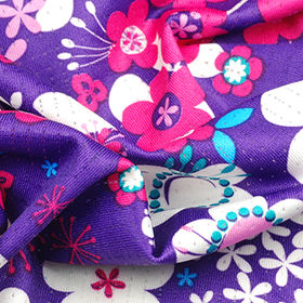 Paper Print Air Hole Mesh Jersey Fabric Featuring