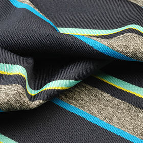 Jersey Fabric, Made of 100% Poly Solid Heather Yarn Dyed Stripe from Lee Yaw Textile Co Ltd
