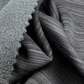 2-Tone Barcord Pique Fleece Fabric from Taiwan