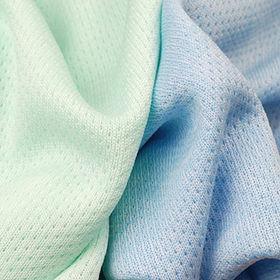 Sweat Wicking Fabric in Heather Birdeye Mini Mesh from Lee Yaw Textile Co Ltd