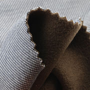 Denim Look Cotton and Micro Fleece Bonded Fabric I from Taiwan