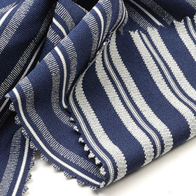100% Poly 2-Tone Pique Stripe Jersey Fabric from Taiwan