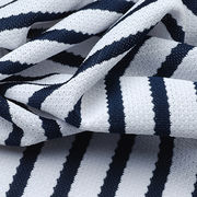 Taiwan Moisture Wicking Fabric in Yarn Dyed Stripe Waffle, Made of 100% Poly