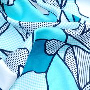 Cotton Touch Print Jersey Fabric Featuring UV-Cut