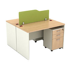 China Concise style commercial melamine faced chipboard office computer table