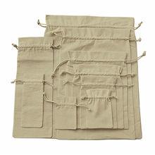 Organic cotton string bag, 100% organic cotton, drawstring style bags