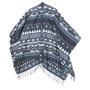 Ethnic Acrylic Shawls from China (mainland)