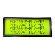 China Character 20*4 Dot-matrix LCD Module, STN, Yellow green, Positive, Transflective, COB