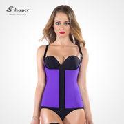 09520fd79411b S-SHAPER Women s Sport Latex Semi Vest Waist Cincher.