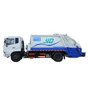Garbage truck with compression garbage equipment
