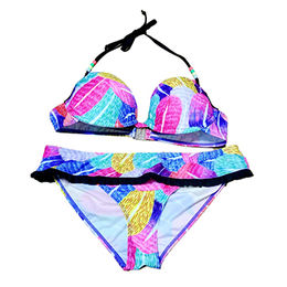 Colorful women's triangle plus size swimwear sets from China (mainland)