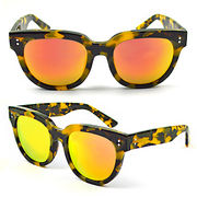 Women's Sunglasses with Shiny Colors, Made of Acetate, with Fashionable Design