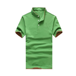 Men's Short-sleeved Polo Shirts, 100% Cotton, Pique 220gsm, with Customized Design