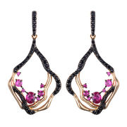 China New design charm zircon stone gold plated earrings for women
