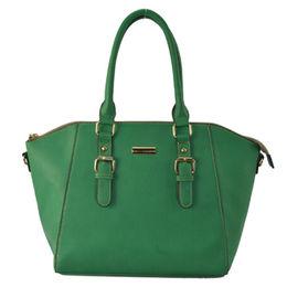 China Fashion Road PU Leather Women's Bag Tope Handle Ha