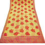 Vintage Chiffon Sari Indian Women's Wrap from India