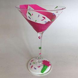 China 12x17.5cm Hand Painted Martini Glasses
