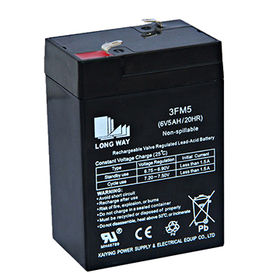 Used for emergency light, LED and fire equipment battery