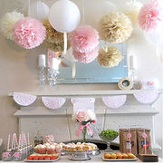Wedding Party Garland Bunting Pom Pom from China (mainland)