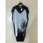 China Fully fashion dress, made of 69% viscose, 27% cotton, 4% nylon