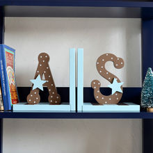 China 2015 hot sale cute wooden letters bookend for students W08D063