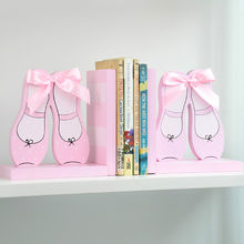 2015 brand new cute wooden shoes bookend from China (mainland)