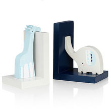 Wooden elephant & giraffe animal bookend from China (mainland)