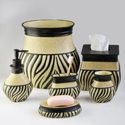 Round stripy polyresin bathroom accessory from China (mainland)