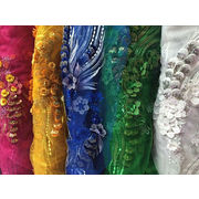 3D sequins embroidery lace fabric, dress lace