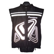 black logo printing multi zipper reflective vest from China (mainland)