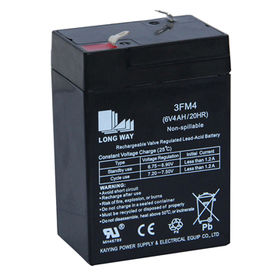 6V/5.5Ah Rechargeable Lead-acid Battery from China (mainland)