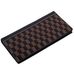 Zip PU grid print wallet Manufacturer
