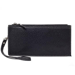 pu black hand wallet purse from China (mainland)