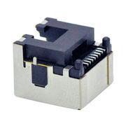 RJ45 connector-RJ45 PHONE JACK8P8C 1X1 port SMT type shielded BLACK Low profile