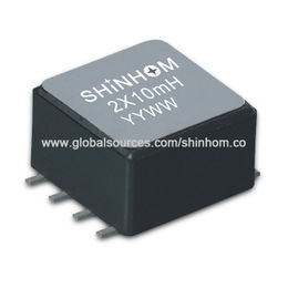 SMD EMI Common Mode Choke Coil and Filter with Impedance of 60 to 2,200Ω at 100m