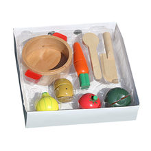 2015 popular wooden cutting vegetables toy