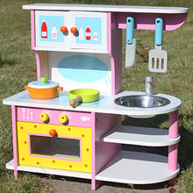 2015 new design kid's wooden kitchen toy set Manufacturer