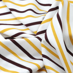 Poly/Rayon/Spandex Stripe Knitted Fabric from Taiwan