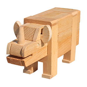 2015 new wooden animal intelligence toy from China (mainland)