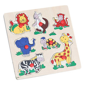 2015 wooden animal 3d puzzle toy