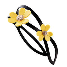 Clean and Nice Flower Acetate Fiber Headbands from China (mainland)
